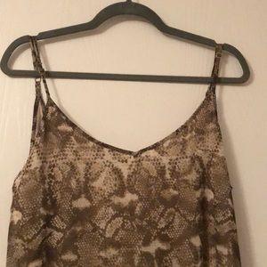 Like new snake skin high low backless dress